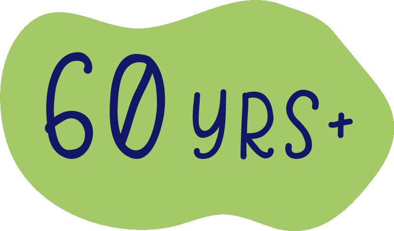 60yrs +