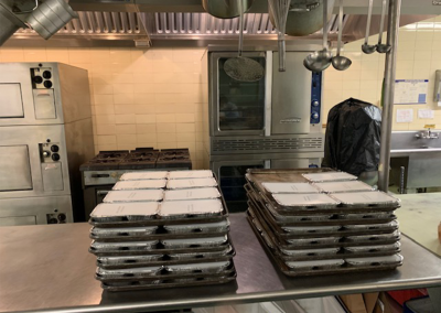 Hot meals ready for delivery