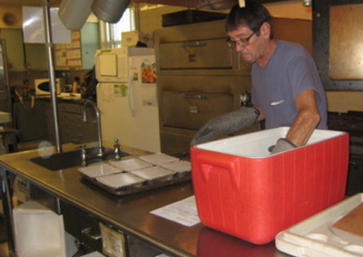 Packing meals for delivery